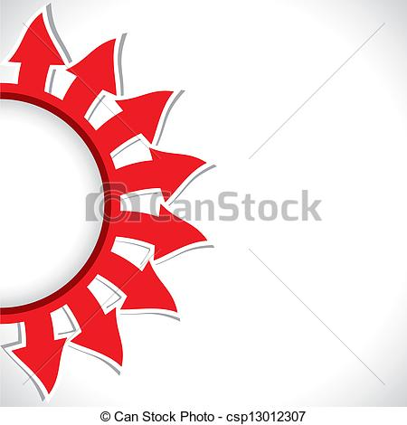 Half circle arrow clipart clipart library download Vector Clipart of half-round arrow background - red color arrow in ... clipart library download