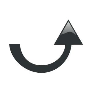 Half circle arrow clipart banner free arrow black gloss Uturn up fat clip art, public domain image ... banner free