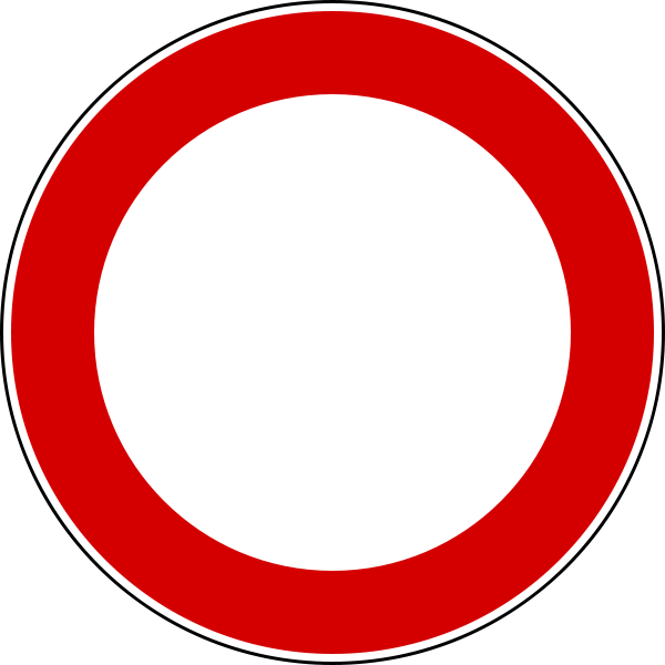 Half circle arrow clipart jpg black and white library Driving in Italy: Italian Road Signs :: Italy Explained jpg black and white library