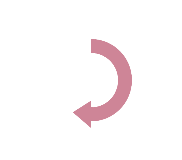 Half circle arrow clipart clip art library stock Circular Arrows Diagrams | Sales arrows - Vector stencils library ... clip art library stock