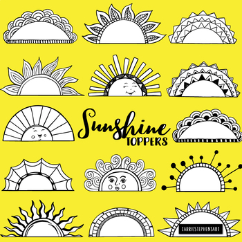 Half circle of hands black and white clipart jpg transparent Sunshine Toppers, Frame and Label Black Line Art, Sun Silhouettes, Half  Circle jpg transparent