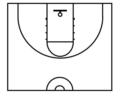 Half court shot black and white clipart image royalty free download Basketball Court Images | Free download best Basketball Court Images ... image royalty free download