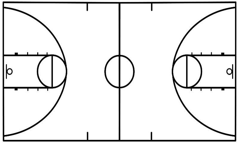 Half court shot black and white clipart clipart freeuse library basketball shot charts printable template | search espn top 100 ... clipart freeuse library