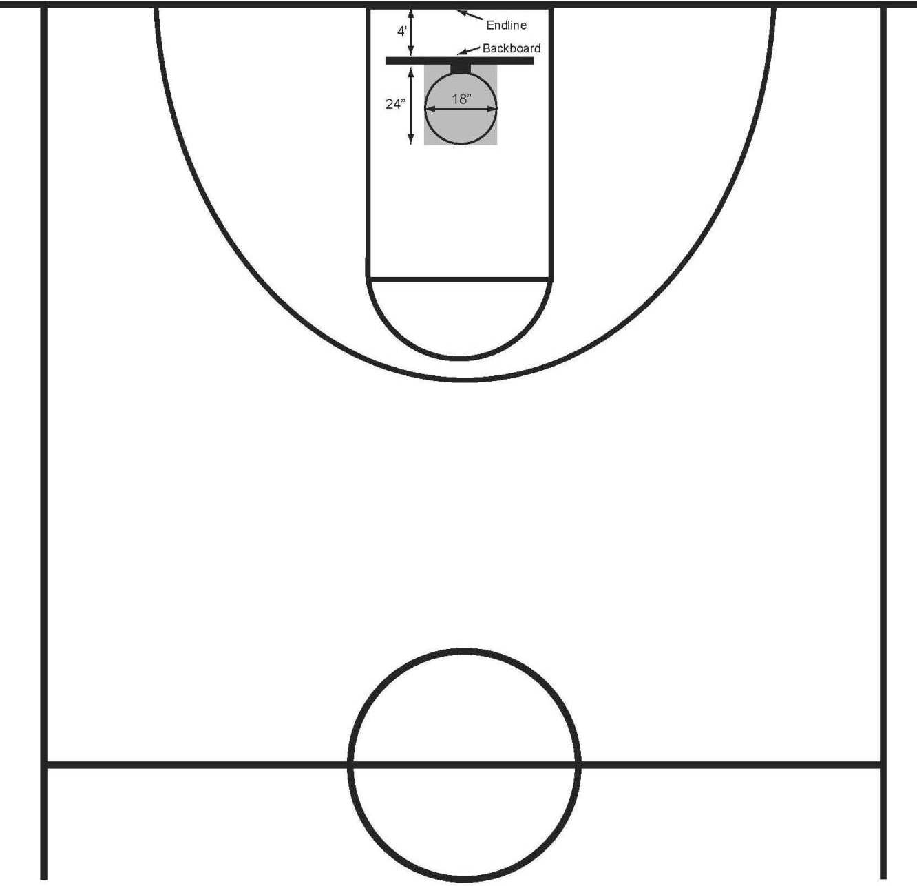 Half court shot black and white clipart clip art transparent library Free Basketball Court Clipart, Download Free Clip Art, Free Clip Art ... clip art transparent library