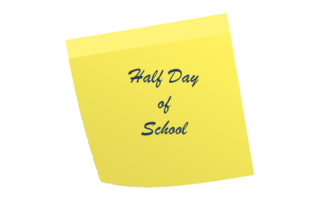 Half day of school clipart vector library stock Half Day of School - No Kindergarten — Bridger Elementary School vector library stock