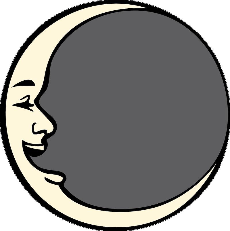 Half moon half sun clipart clip library Man in The Moon Folklore   The Old Farmer's Almanac clip library