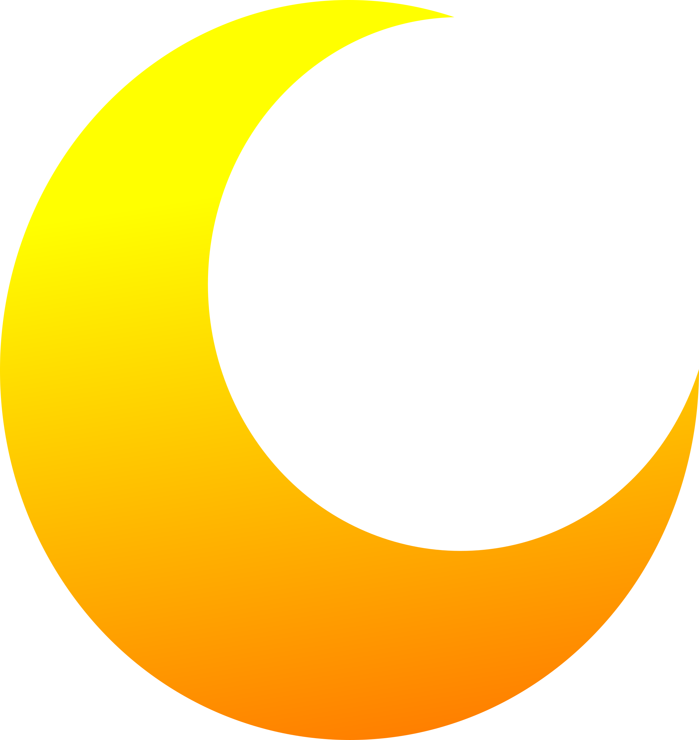 Moon vector clipart image royalty free Yellow Crescent Half Moon Vector Clipart image - Free stock photo ... image royalty free