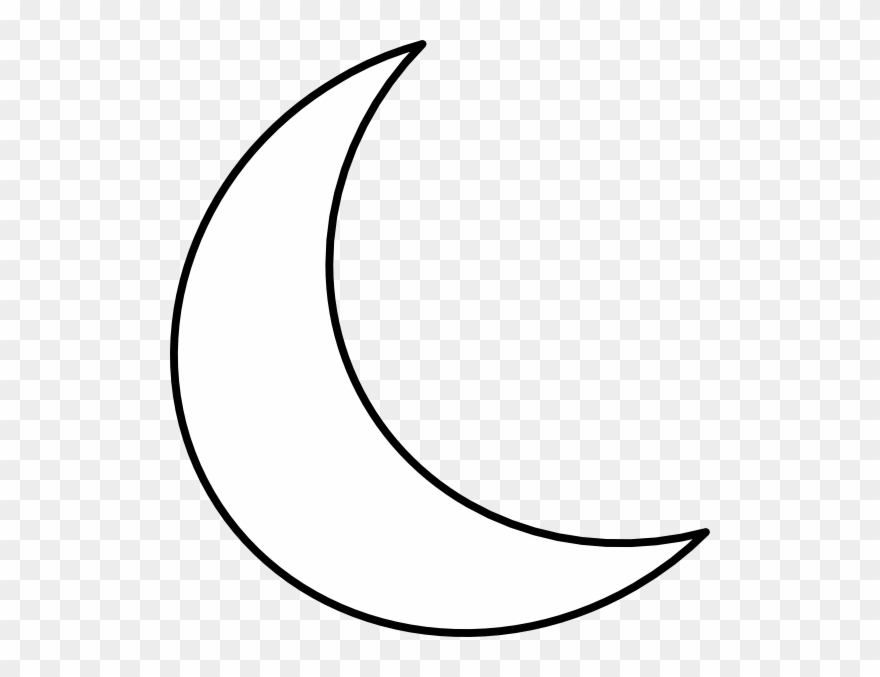 Cresentmoon clipart jpg black and white library White Crescent Moon Clipart - Png Download (#820235) - PinClipart jpg black and white library
