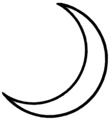 Cresentmoon clipart png black and white Free Half Moon Cliparts, Download Free Clip Art, Free Clip Art on ... png black and white