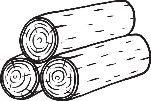 Half of a log clipart black and white vector freeuse Log Clipart Black And White vector freeuse