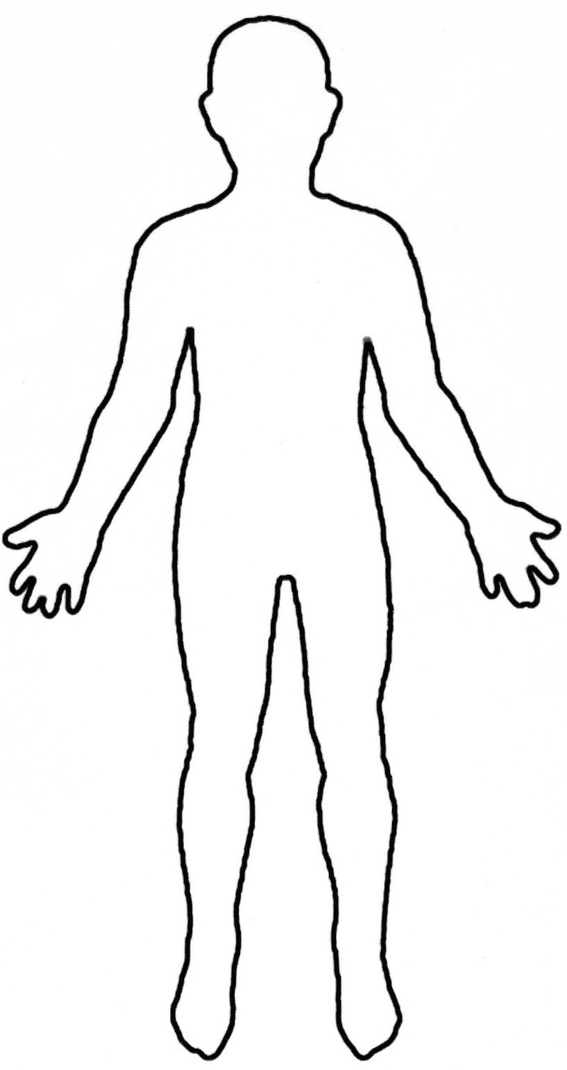 Half of a person s upper body clipart vector royalty free download Human Body Outline Printable | Free download best Human Body Outline ... vector royalty free download