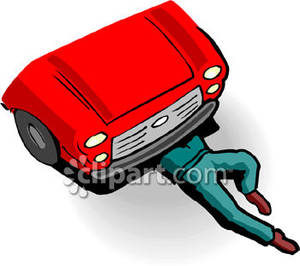 Half of a person s upper body clipart picture transparent library Person\'s Upper Half of Body Underneath Front End of Red Car Royalty ... picture transparent library