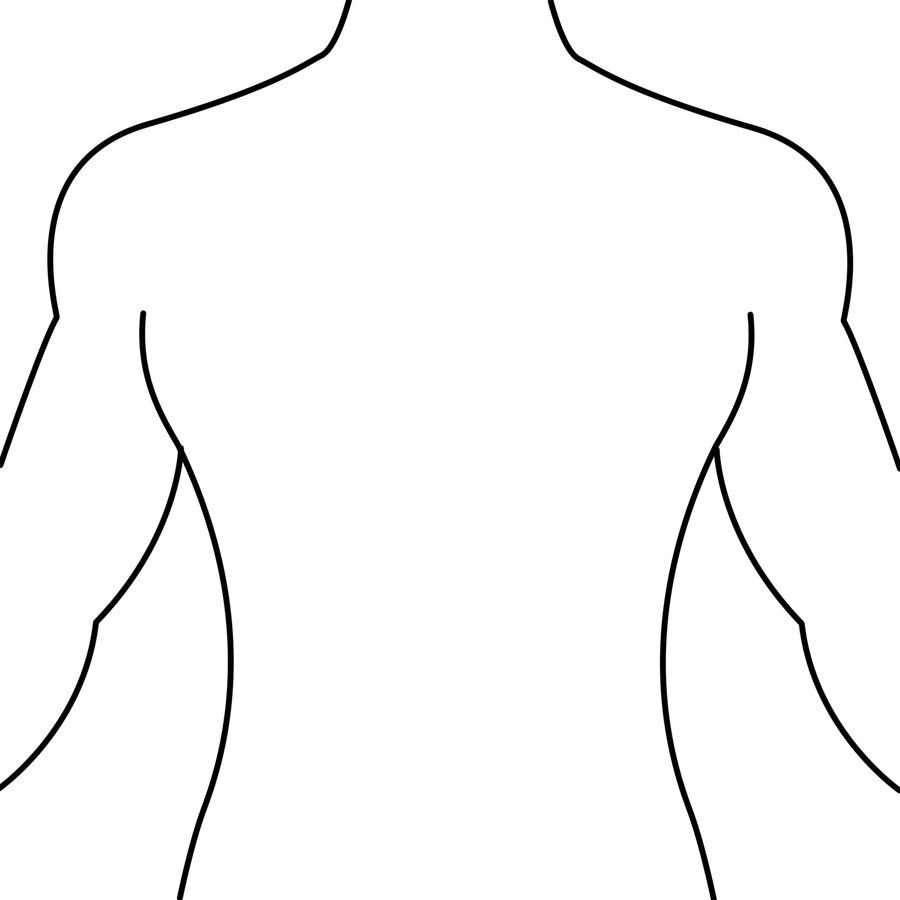 Half of a person s upper body clipart picture freeuse stock Human Body Outline Front and Back Drawing - Health Token - ClipArt ... picture freeuse stock