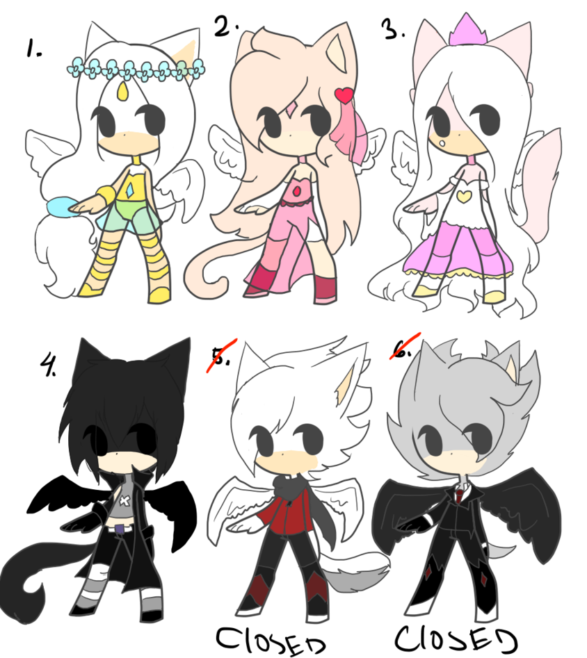 Half of my heart is in heaven with my angel clipart graphic black and white stock Sonic Angel Adopts Open by QueenThiccPeach on DeviantArt graphic black and white stock