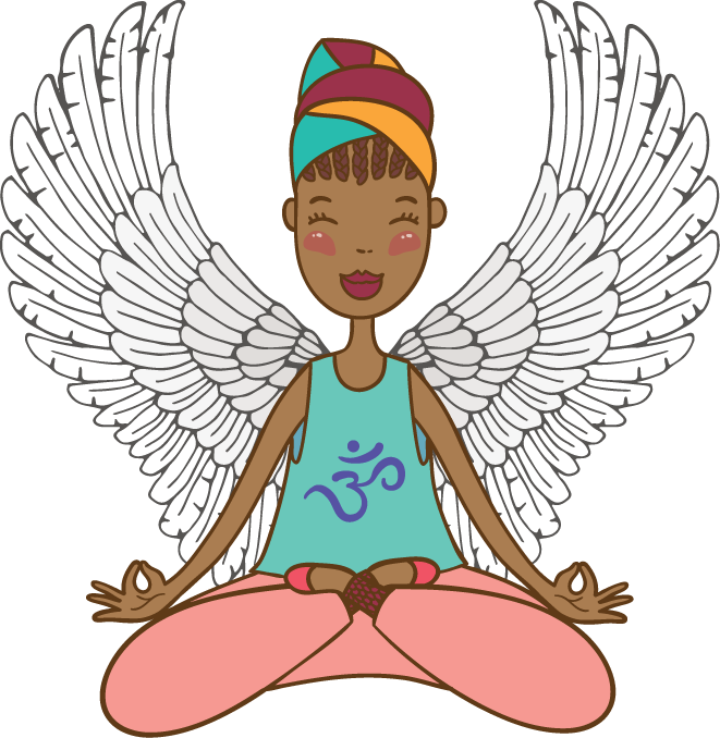 Half of my heart is in heaven with my angel clipart picture black and white download The Vegan Mocha Angel picture black and white download