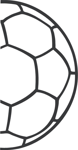 Half soccer ball clipart svg black and white stock Half soccer ball clipart - ClipartFest svg black and white stock