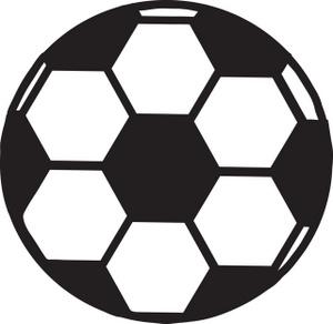 Half soccer ball clipart clip freeuse Soccer Ball Clipart Black And White - ClipArt Best clip freeuse
