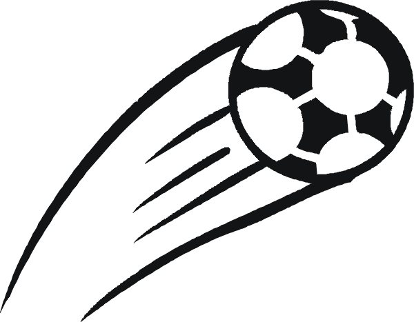 Half soccer ball clipart clipart library stock Soccer ball in motion clipart - ClipartFest clipart library stock