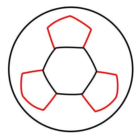 Half soccer ball clipart png Drawing a cartoon soccer ball png