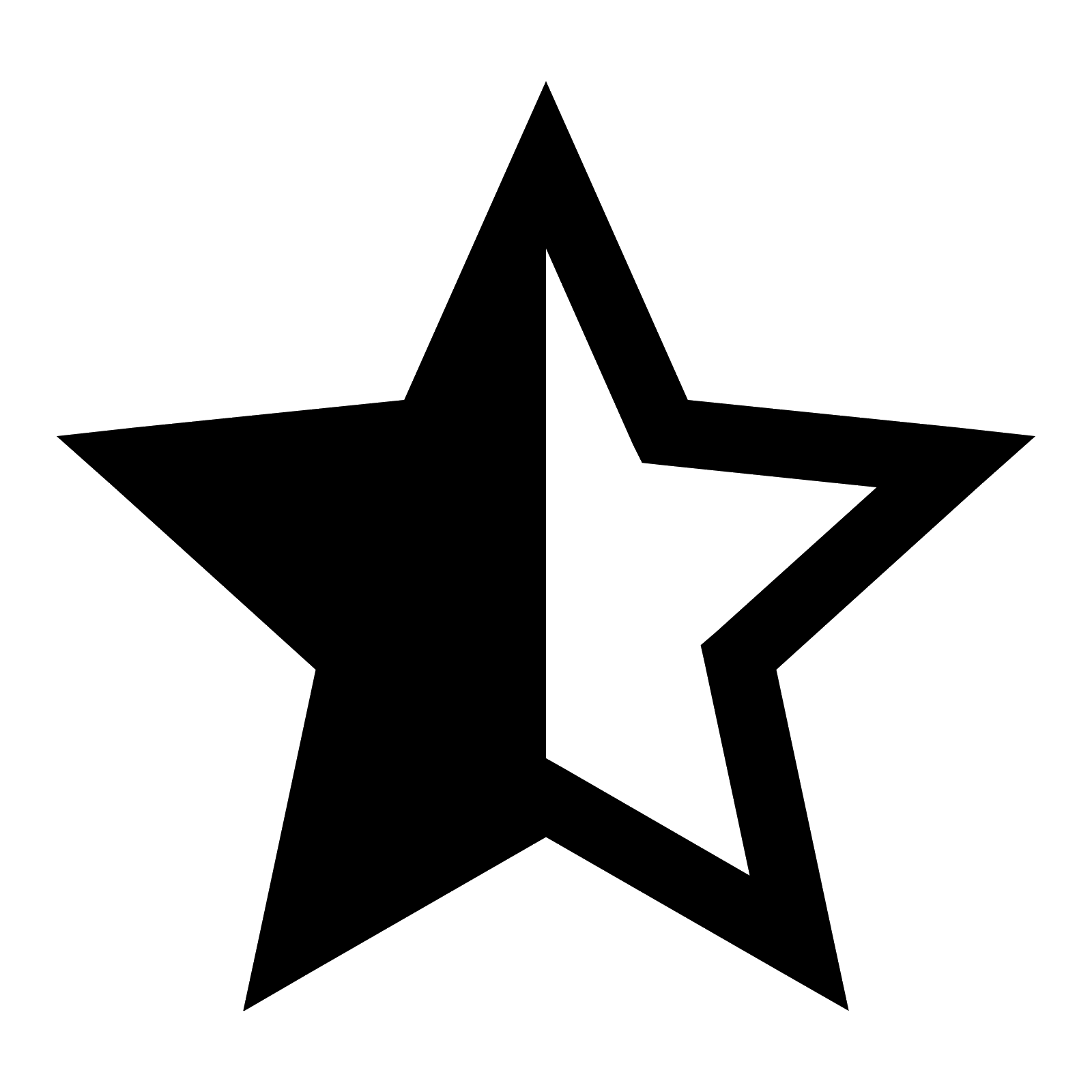 Half star clipart vector transparent stock Black Star PNG Image - PurePNG | Free transparent CC0 PNG Image Library vector transparent stock