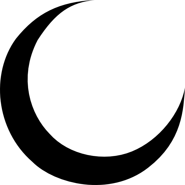 Moon and sun wiccan clipart free image black and white download Black Crescent Moon Clip Art at Clker.com - vector clip art online ... image black and white download
