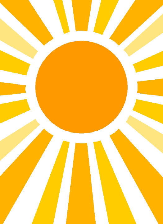 Half sun clipart white png black and white stock Half Sun With Rays PNG Transparent Half Sun With Rays.PNG Images ... png black and white stock