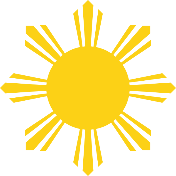 Water and sun clipart tattoos image royalty free stock File:Sun Symbol of the National Flag of the Philippines.svg ... image royalty free stock