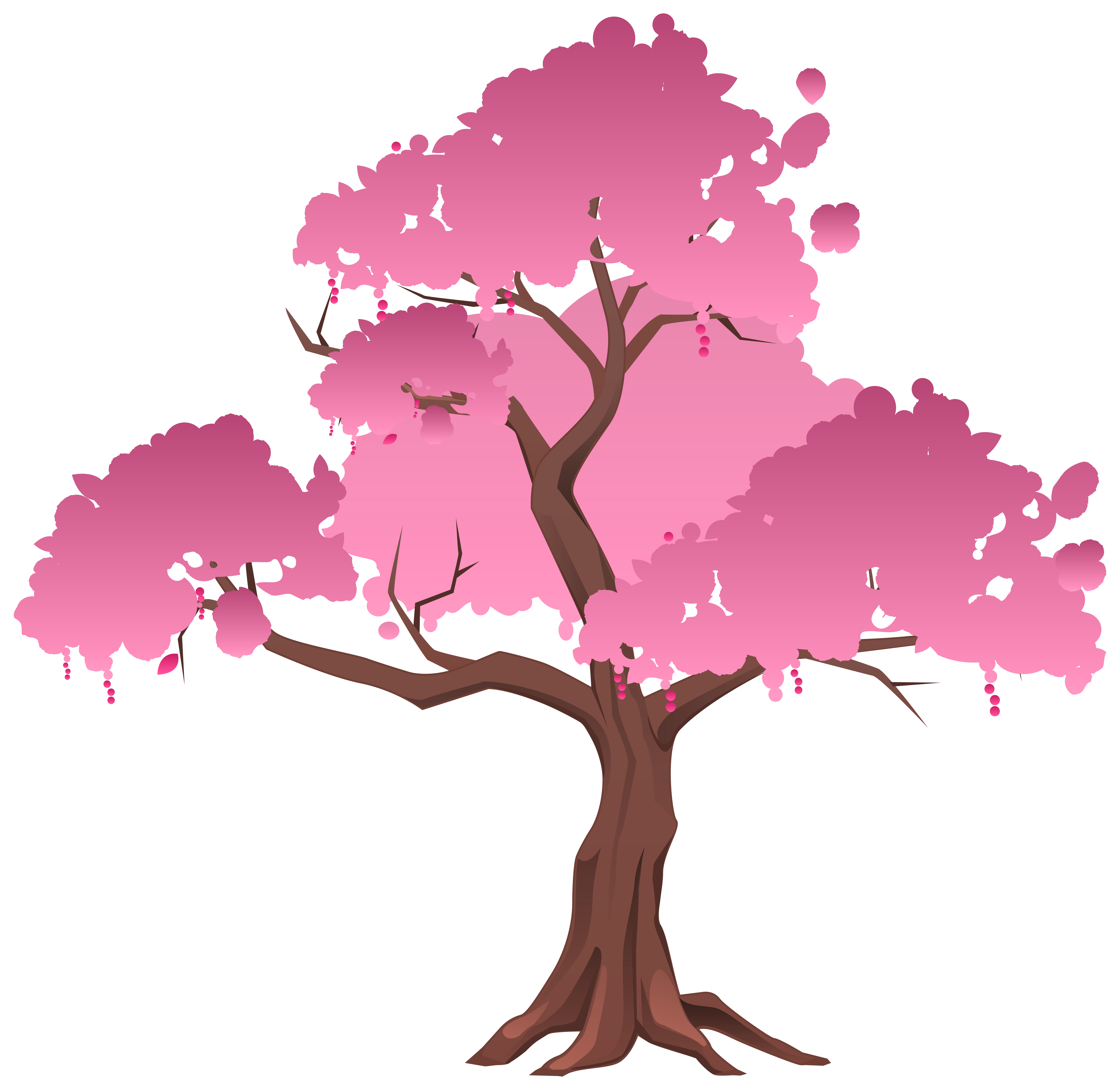 Half tree clipart svg library library Pink Japanese Tree PNG Clipart Image | Gallery Yopriceville - High ... svg library library