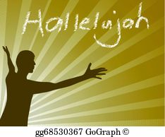 Hallelujah clipart free png transparent library Hallelujah Clip Art - Royalty Free - GoGraph png transparent library