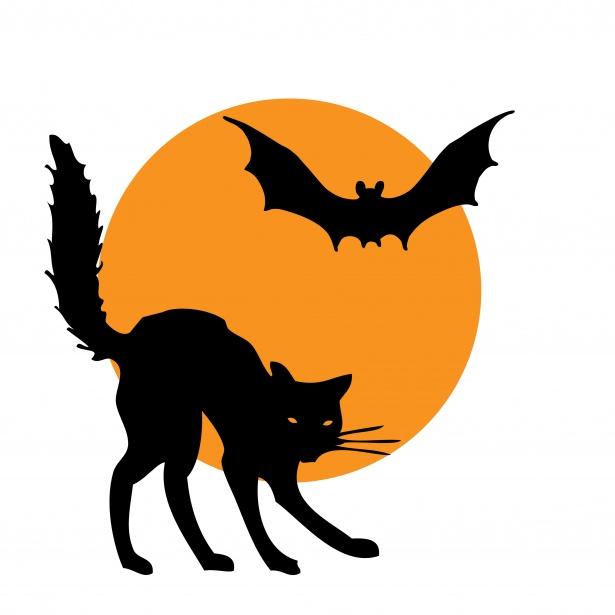 Hallween clipart clip art Halloween Clipart Cat Bat Free Stock Photo - Public Domain Pictures clip art