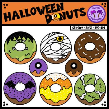 Halloweed fun and food clipart jpg library Halloween Donuts (Doughnuts) | Teacher Created Resources | Halloween ... jpg library