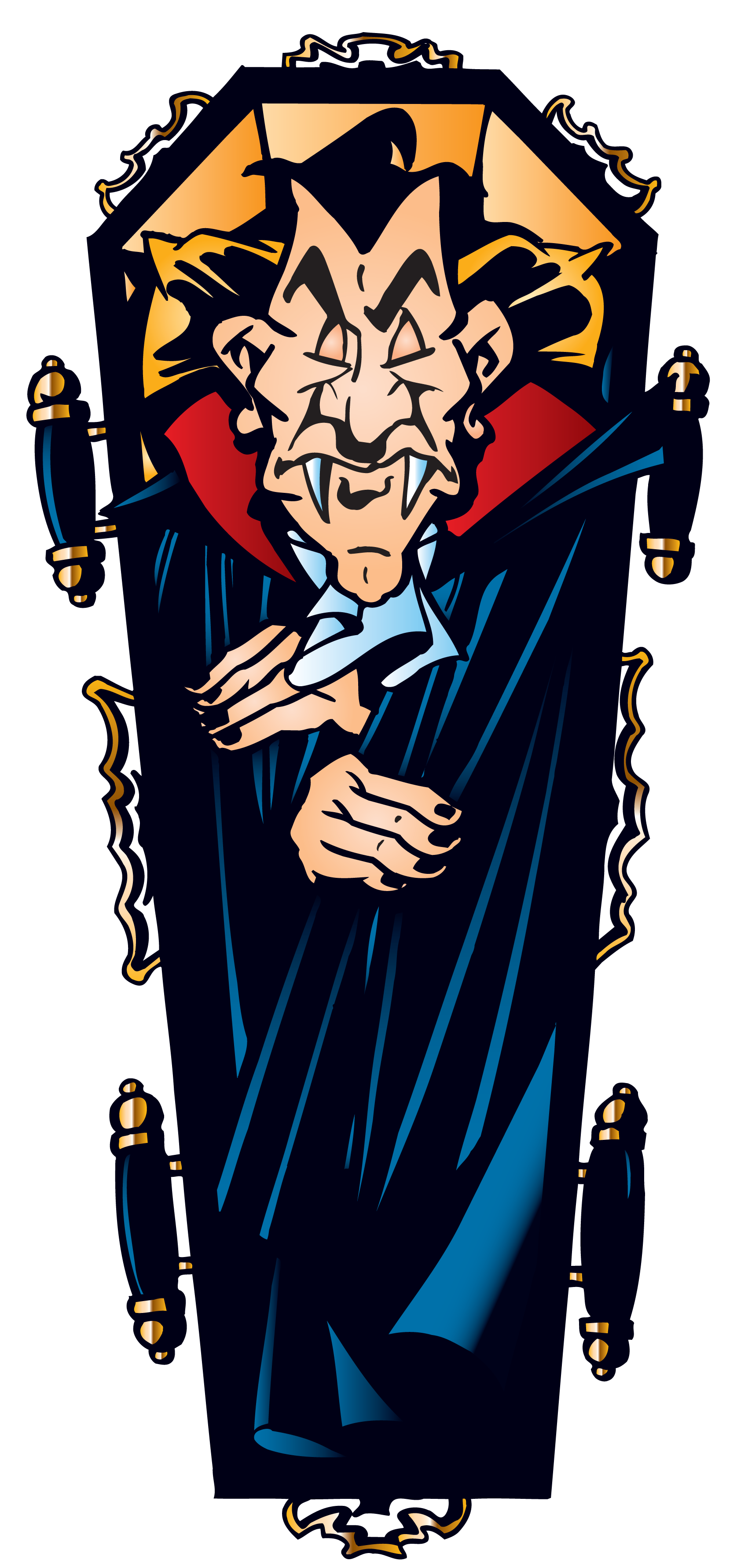 Halloween dracula clipart picture transparent library Halloween Vampire in Coffin PNG Clipart | Gallery Yopriceville ... picture transparent library