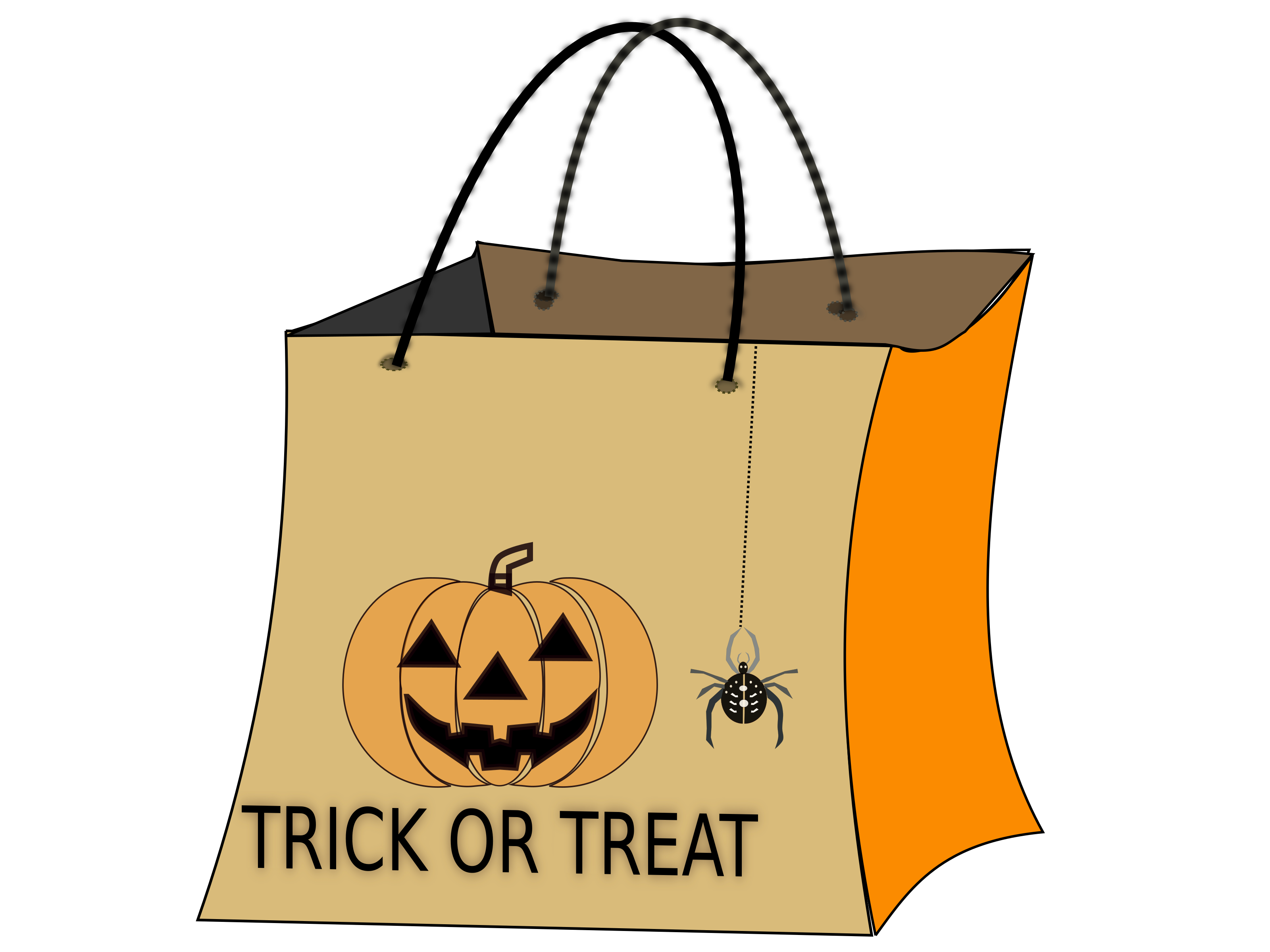 Halloween trick or treat bag clipart vector download Clipart - TRICK OR TREAT BAG vector download