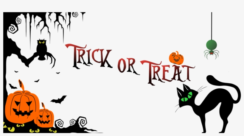 Halloween banner clipart free graphic stock Download Halloween Banner Png Clipart Halloween Trick - Trick Or ... graphic stock