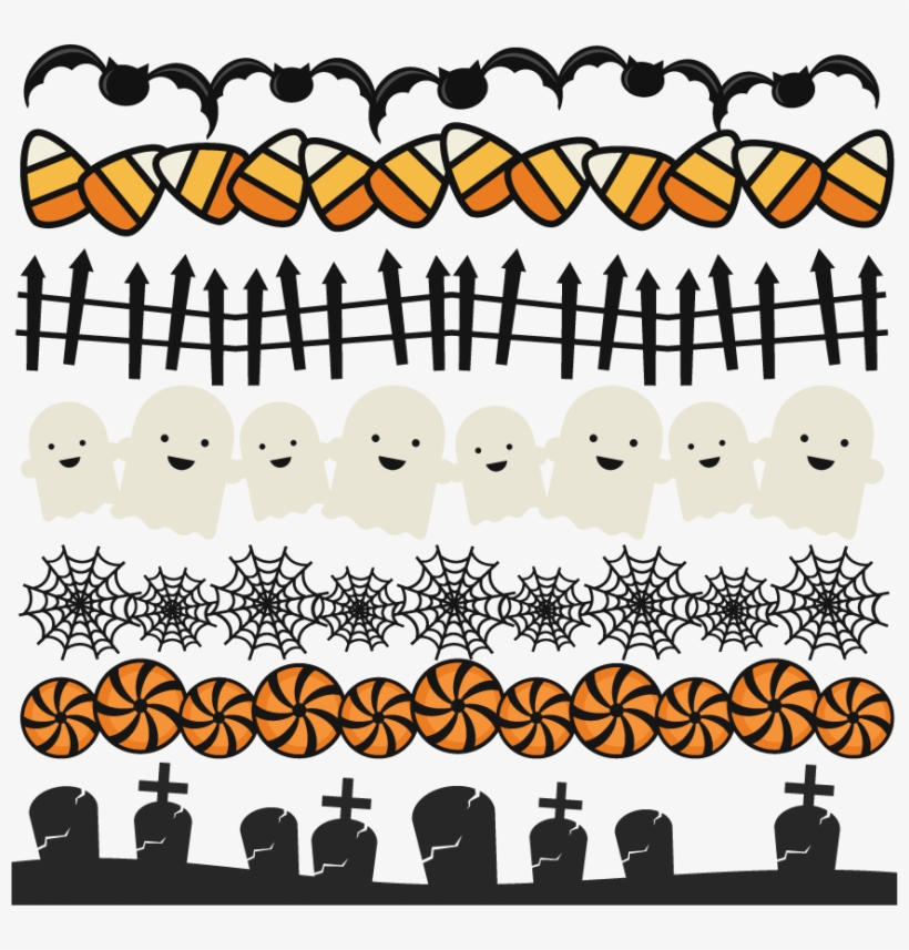 Halloween banner clipart free graphic stock Halloween Borders Set Svg Scrapbook Title Spiderweb - Halloween ... graphic stock