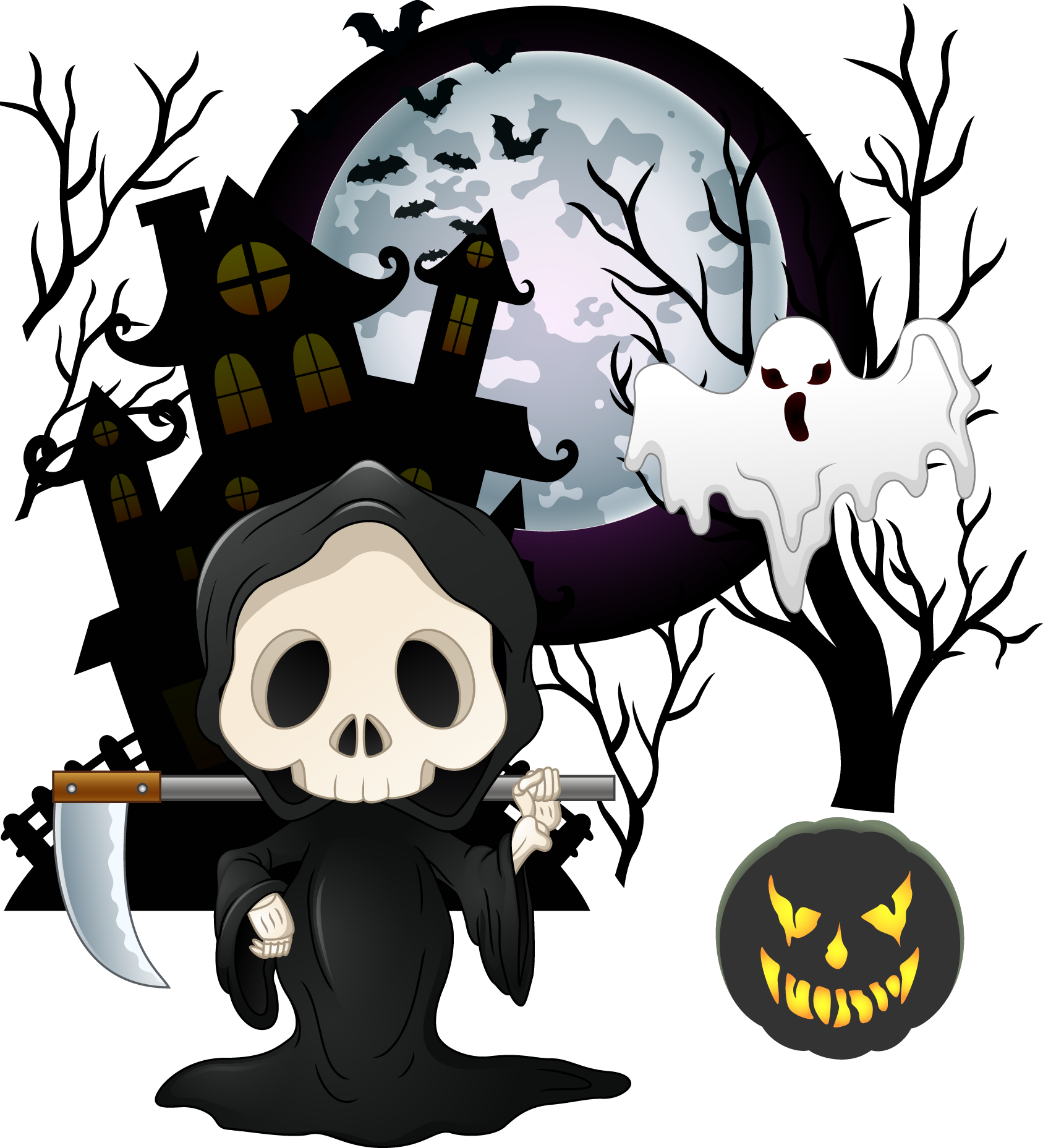 Halloween bash clipart banner Halloween Cartoon Skeleton Ghost - Halloween cartoon skull 1687*1857 ... banner