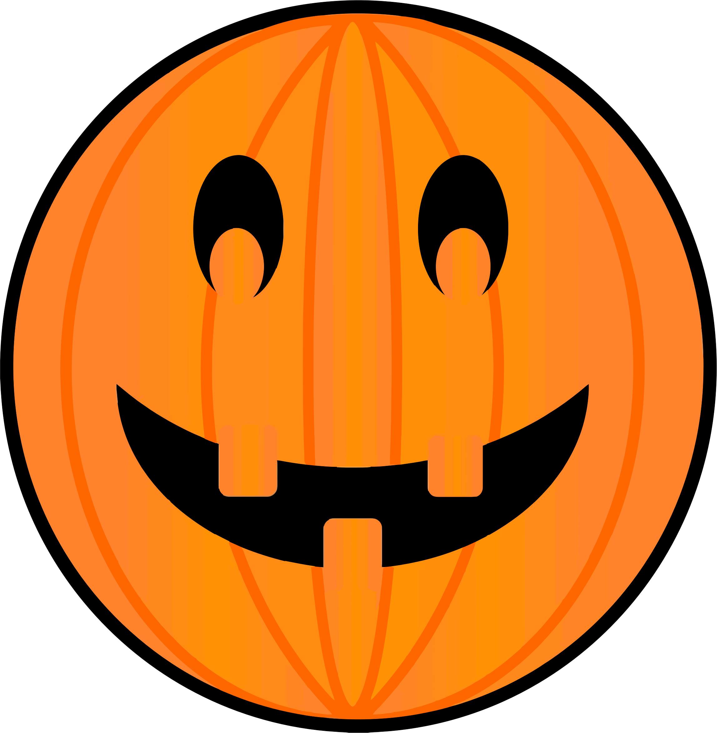 Pumpkin faces happy clipart graphic transparent stock Jack o lantern clipart halloween jack - Clipartix graphic transparent stock