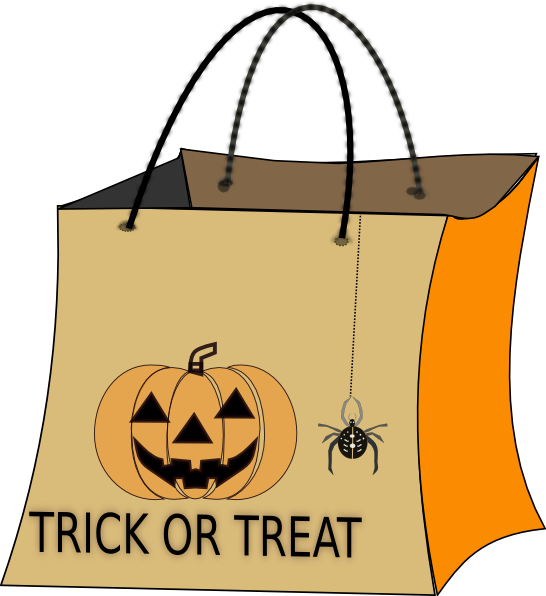 Halloween trick or treat bag clipart clipart freeuse download Trick Or Treat Bag Clip Art at Clker.com - vector clip art online ... clipart freeuse download