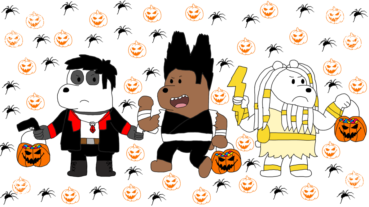 Halloween ninja clipart clip art 8 days before Halloween- We Bare Bears (Day 5) by Princess ... clip art