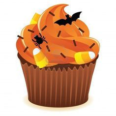 Halloween birthday cake clipart picture royalty free stock HALLOWEEN CUPCAKE * | CLIP ART - HALLOWEEN 1 - CLIPART | Pinterest ... picture royalty free stock