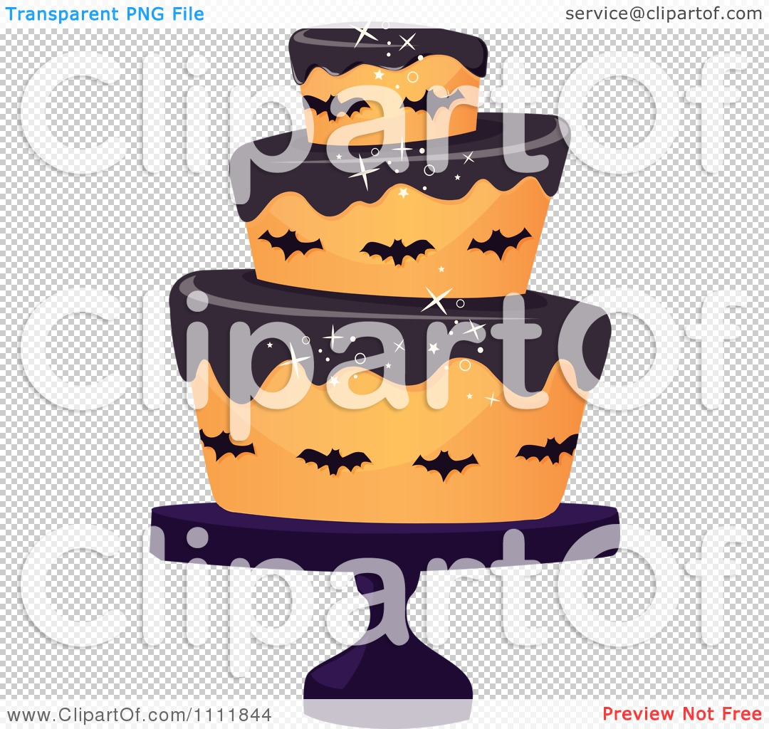 Halloween birthday cake clipart jpg free library Clipart Three Tiered Halloween Cake With Bats And Black Frosting ... jpg free library