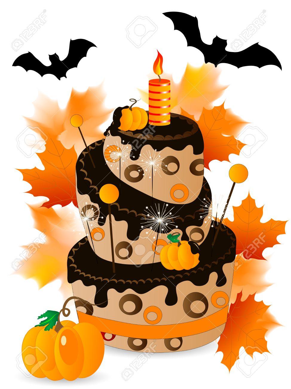 Halloween birthday cake clipart banner free stock Halloween birthday cake clipart - ClipartFest banner free stock