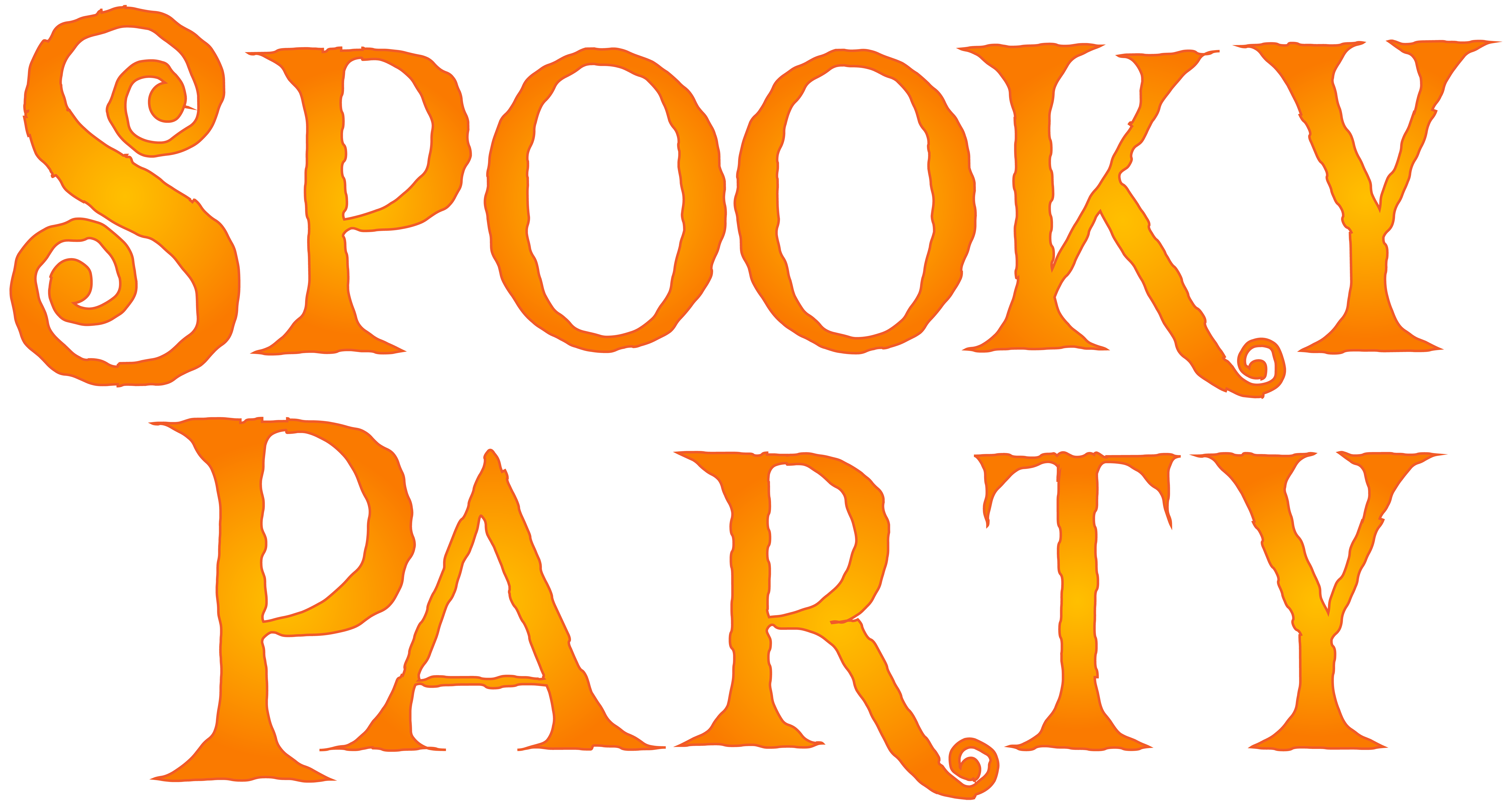 Halloween birthday party clipart graphic stock Spooky Party PNG Clip Art Image   Gallery Yopriceville - High ... graphic stock