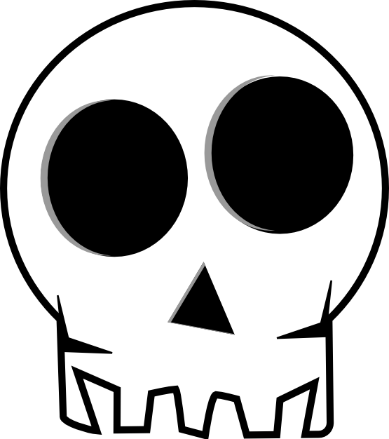 Halloween black and white clipart png black and white library clipartist.net » Clip Art » Skull Black White Art Moogley Halloween SVG png black and white library