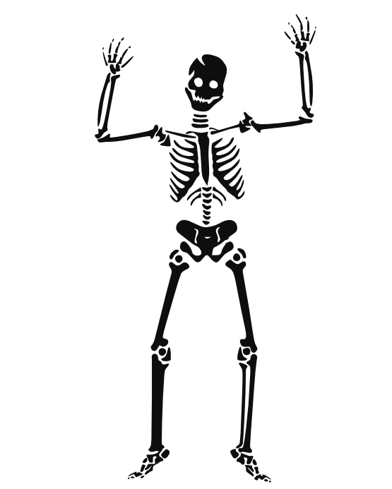 Halloween skeleton clipart black and white graphic library stock clipartist.net » Clip Art » Kish Holmes Halloween SVG graphic library stock