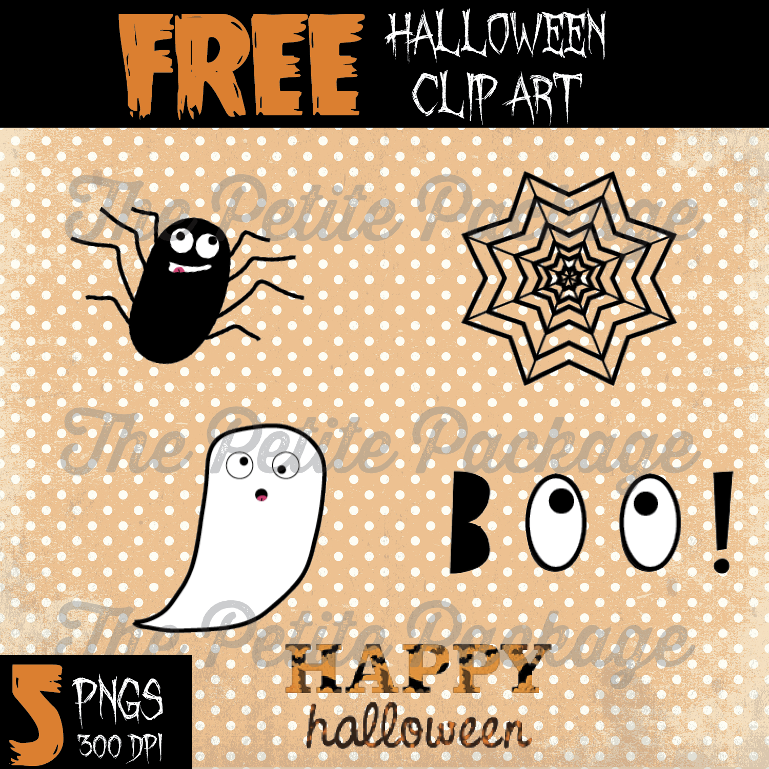 Thank you halloween clipart image freeuse download Freebie Friday: Downloadable Halloween Clip Art | The Petite Package image freeuse download