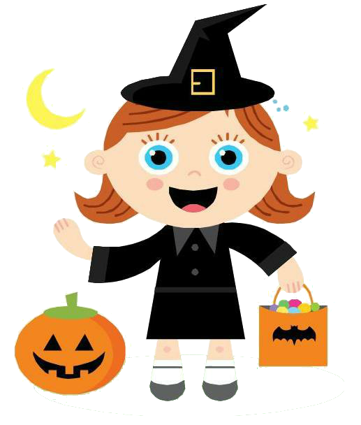 Halloween trick or treat clipart clipart transparent stock Halloween Clip Art by Trinismile – Teacherrogers clipart transparent stock