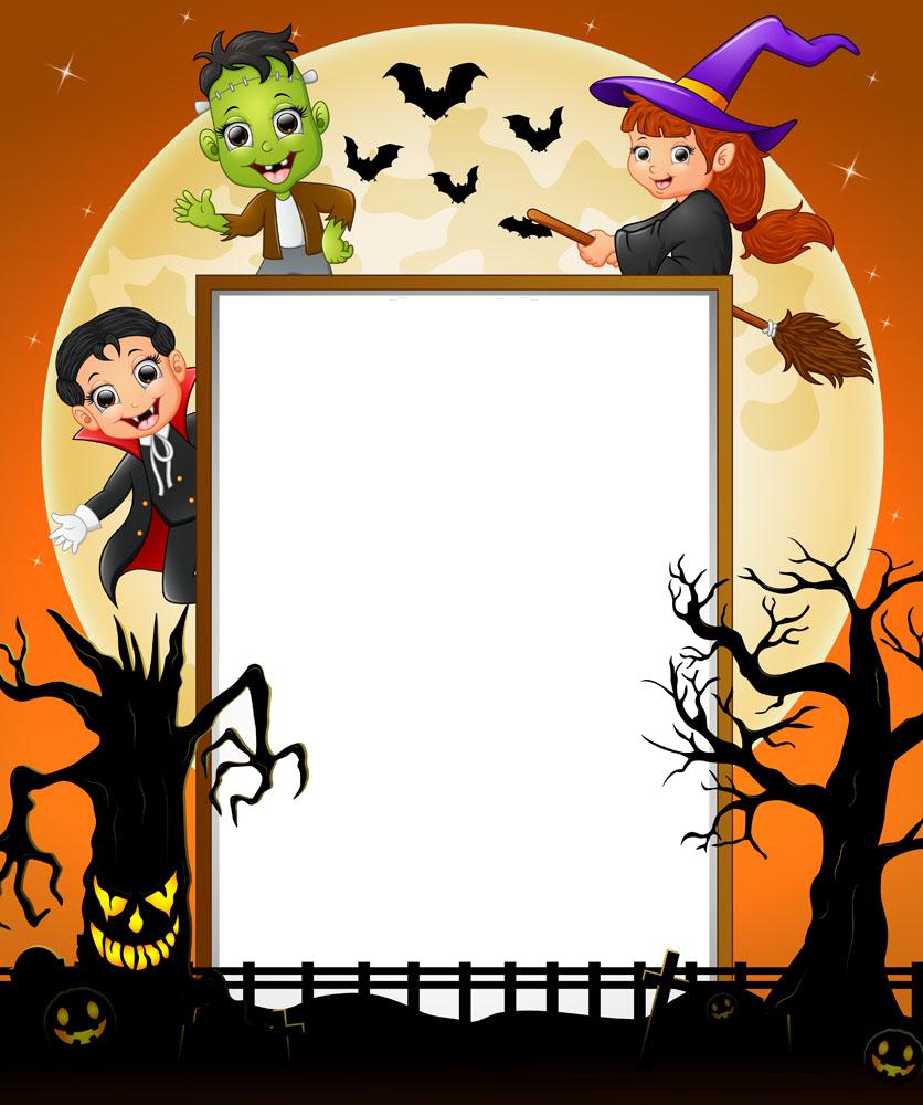 Halloween border clipart free jpg download Halloween Costume Cosplay - Halloween Vector Border 836*1000 ... jpg download