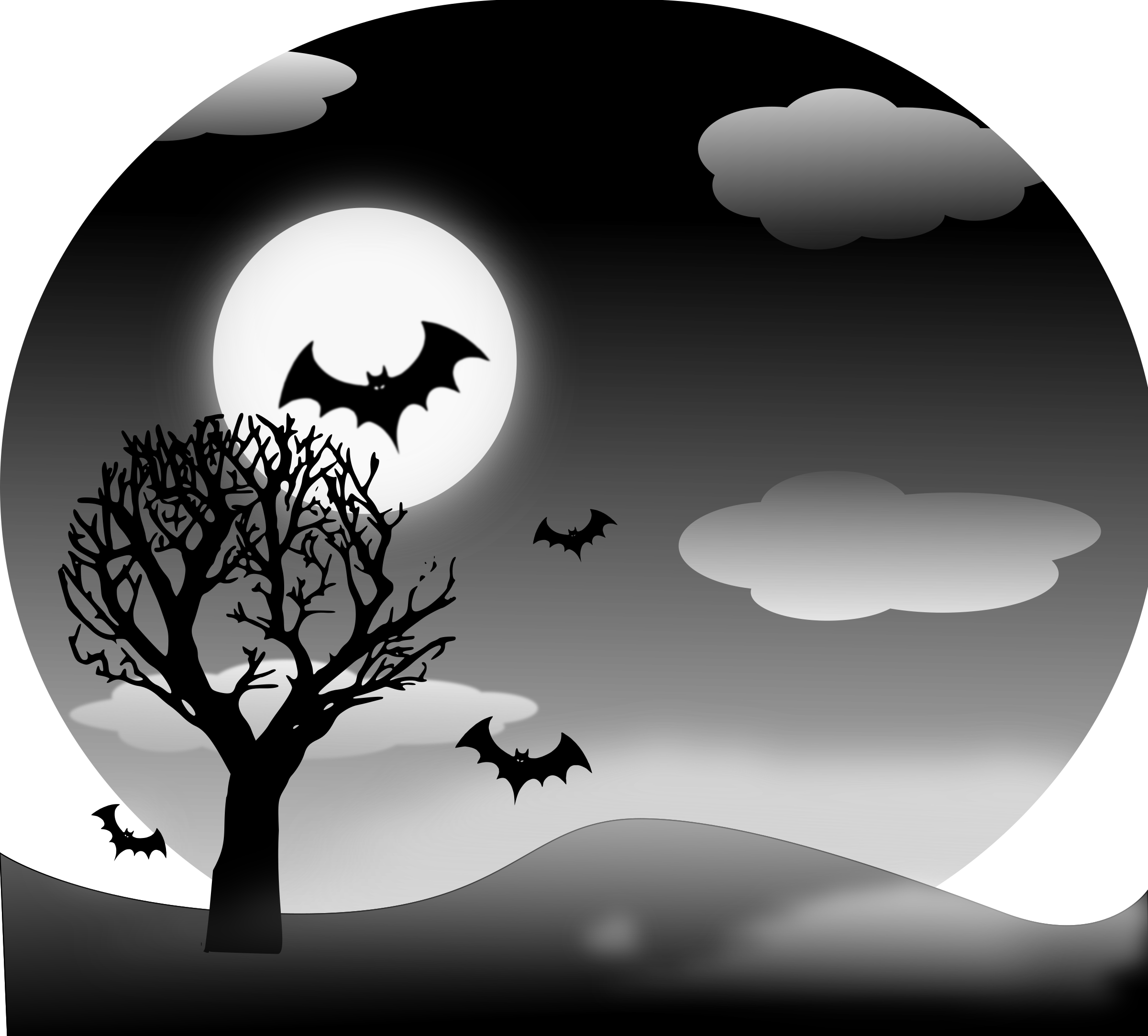 Halloween border clipart landscape clip black and white download Halloween Landscape Icons PNG - Free PNG and Icons Downloads clip black and white download