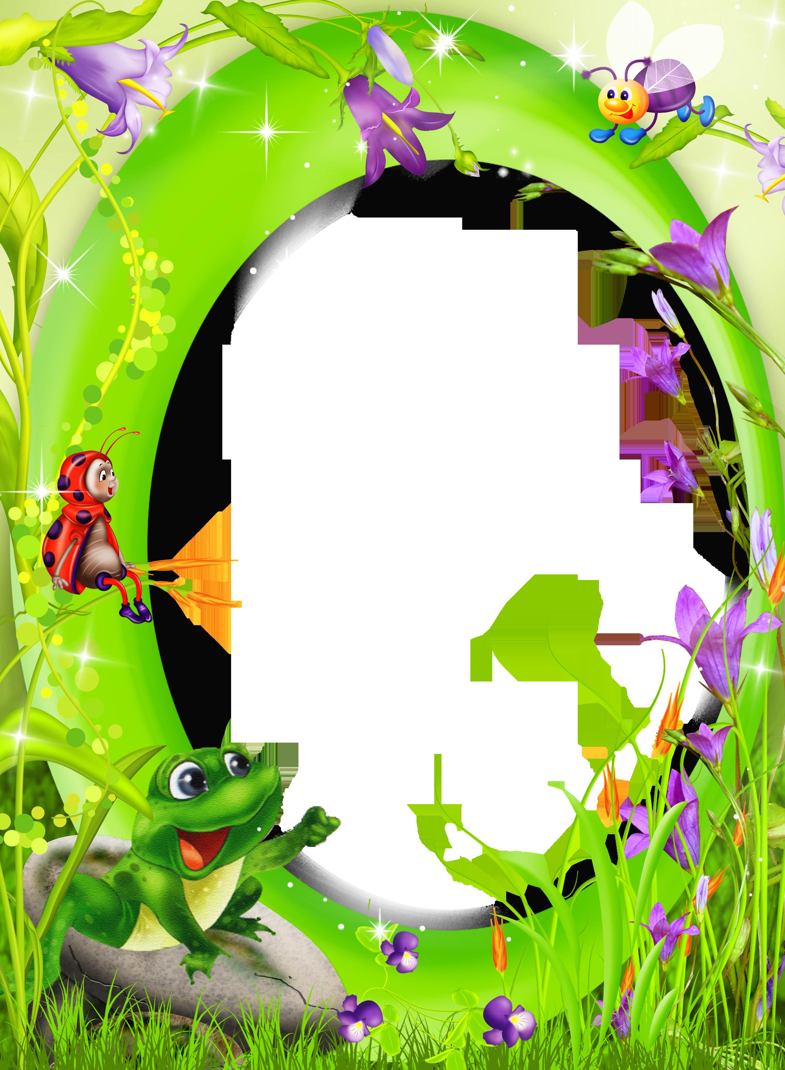 Halloween border clipart landscape clip transparent stock Frames clipart frog ~ Frames ~ Illustrations ~ HD images ~ Photo ... clip transparent stock